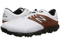 New Balance Golf Minimus Lx White Brown Men's Golf Shoes