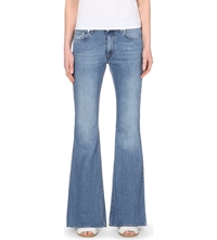 Acne Studios Flared Slim Fit Mid Rise Jeans Light Vintage
