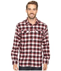 Columbia Silver Ridge Flannel Long Sleeve Shirt Red Element Mid Plaid Men's Long Sleeve Button Up Multi