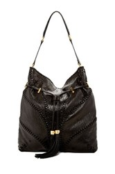 Brian Atwood Lucas Leather Hobo Bag Black