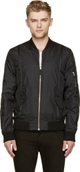 Blk Dnm Black Nylon Bomber Jacket