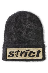 Alexander Wang Angora Hat With Patch Black