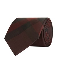 Burberry Shoes And Accessories Checked Silk Tie Unisex Red