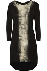 Kain Label Lola Paneled Cotton And Modal Blend Dress Black
