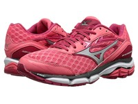 Mizuno Wave Inspire 12 Calypso Coral Silver Raspberry Wine Women's Running Shoes Pink