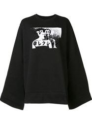 Puma Fleece Crew Neck Sweatshirt Black