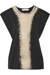 Kain Label Paola Printed Cotton And Modal Blend T Shirt Black