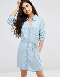 Only Henne Rope Tie Denim Dress Al2883 Light Blue