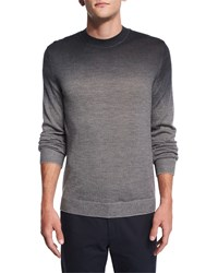 Theory Remsey Dip Dye Crewneck Sweater Gray Heather Women's Grey Heather Mult