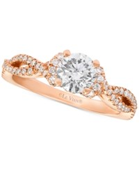 Le Vian Bridal Diamond Engagement Ring 1 1 6 Ct. T.W. In 14K Rose Gold