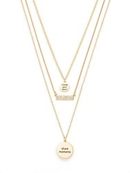 Bcbgeneration Three Piece 'Follow Your Heart' Charm Necklace Set Gold