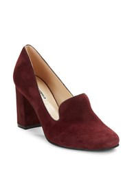Karl Lagerfeld Karina Suede Loafers Bordeaux