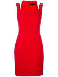 Barbara Bui Buckled Strap Dress Red