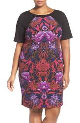 Adrianna Papell Plus Size Women's Print Colorblock Sheath Dress