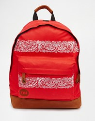 Mi Pac Bandana Bright Red Backpack Red