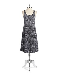 Lord And Taylor Sleeveless Nightie Paisley Black
