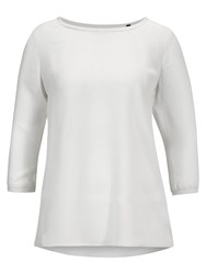 Marc O'polo Shirt Blouse In Rayon Modal Crepe White
