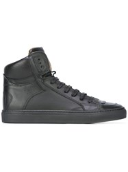 Maison Martin Margiela Mm6 Lace Up Hi Top Sneakers Black
