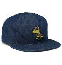 Ebbets Field Flannels Appliqued Denim Baseball Cap Navy
