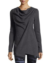 Marc New York Marc Ny Performance Yummy Asymmetric Fleece Tunic Charcoal H