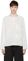 Opening Ceremony White Pinstriped Tunic