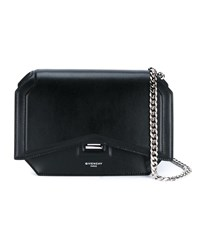 Givenchy Bow Cut Leather Shoulder Bag Black Silver