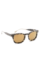 Oliver Peoples West Cabrillo Sunglasses Grey Tortoise Gold Mirror