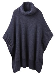 Joules Oriell Roll Neck Poncho Indigo Marl