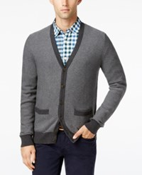 Tommy Hilfiger Men's Tobin Cardigan Grey Heather Charcoal