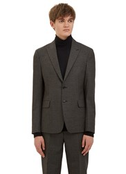 Acne Studios Stanley Checked Blazer Jacket Black