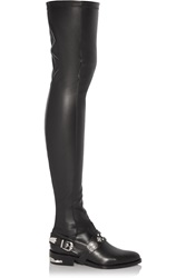 Toga Pulla Embellished Stretch Leather Thigh Boots