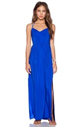 Amanda Uprichard Slit Gown Royal