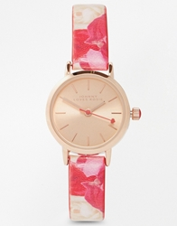 Johnny Loves Rosie Flower Strap Watch Red