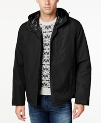 Tommy Hilfiger Big And Tall Men's 3 In 1 Jacket Black Black