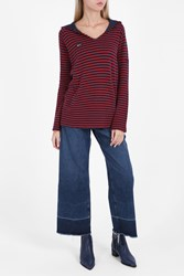 Zoe Karssen Striped Hooded Top Eclhau