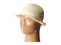 Stacy Adams Knit Fedora With Embroidered Griffen Emblem On The Band Ivory Fedora Hats White