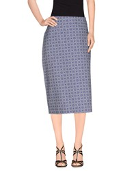 Just In Case Skirts 3 4 Length Skirts Women Blue