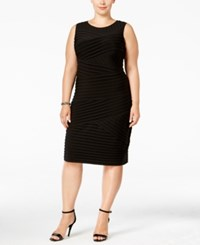 Calvin Klein Plus Size Pleated Bandage Dress Black
