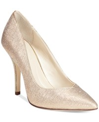Styleandco. Style And Co. Pyxie Evening Pumps Women's Shoes Gold Glitter