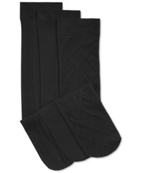 Charter Club Women's Basic Trouser Socks 3 Pack Only At Macy's Black