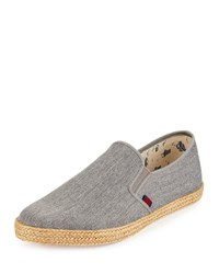 Ben Sherman Jenson Canvas Slip On Sneaker Gray Linen