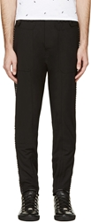 Diesel Black Gold Black Studded Paborkie Trousers