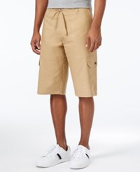 Sean John Men's Big And Tall Lightweight Cargo Shorts Kelp