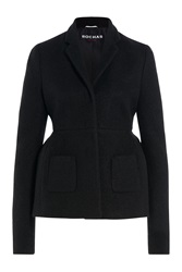 Rochas Mohair Wool Structured Blazer Black