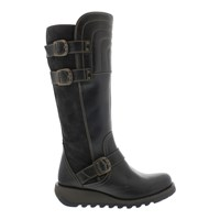 Fly London Sher Buckle Knee High Boots Diesel