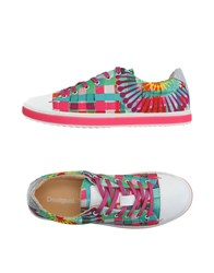 Desigual Footwear Low Tops And Trainers Women Fuchsia