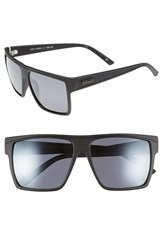 Le Specs 'Dirty Magic' 58Mm Polarized Sunglasses Black Rubber Silver Polar