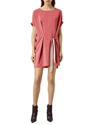 Allsaints Sonny Silk Dress Sorbet Pink