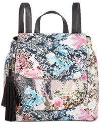 French Connection Gabby Backpack Mineral Pool Print