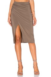 Pink Stitch Mabel Skirt Taupe